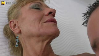 Son gobbles and fucks hot mature not his mom