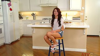 Fit brunette adriana chechik has exciting interview