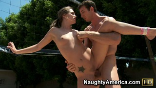 Brunette beauty tori black is outside getting her cunt pounded