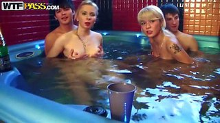 Daisy, gail, mimi and nicole t are legitimate year old college girls with small tits and tight bodies. they are all naked in the sauna with lucky boys. they drink alcohol in their bare skin before it turns into orgy!