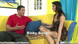 Taut teen binky bangs fucks not her stepbrother