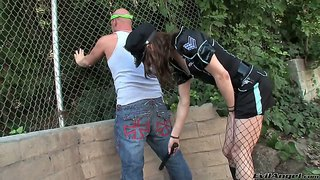 Teeny police female christian xxx do a deep blowjob to kimberly kills