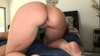The killer milf rides that big cock with sheer passion and desire
