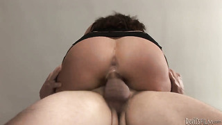 Naughty gal hope gives giving oral pleasure to horny dude