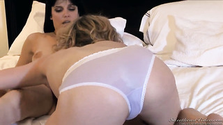 Lily labeau spends her sexual intensity with lesbian bobbi starr