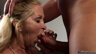 Older female annabelle brady still loves to gag