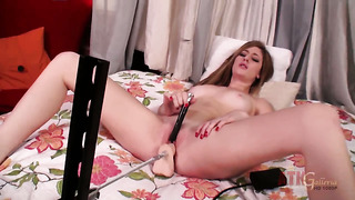 Blonde exotic casana lei shows cute solo tricks with her new sex toy