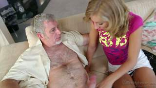 Youthful blonde chastity lynn has sex with older man